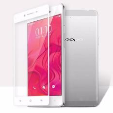 Tempered Glass For Oppo A37 Full Screen White Screen Anti Gores Kaca / Screen Guard / Screen Protection / Temper Glass / Pelindung Layar Kaca Oppo A37 / Depan Only / Full Cover Layar - White / Putih
