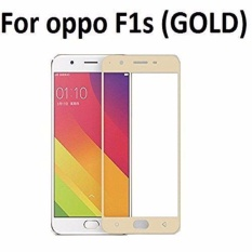 Tempered Glass For Oppo F1S Selfie Expert A59 9H Full Screen Gold Screen Anti Gores Kaca / Screen Guard / Screen Protection / Temper Glass / Pelindung Layar Kaca Oppo F1S Selfie Expert A59 / Depan Only / Full Cover Layar - Silver