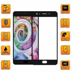 Tempered Glass For Oppo F3 Plus / F3+ 9H Full Screen Black Screen Anti Gores Kaca / Screen Guard / Screen Protection / Temper Glass / Pelindung Layar Kaca Oppo F3 Plus / F3+  / Depan Only / Full Cover Layar - Black / Hitam