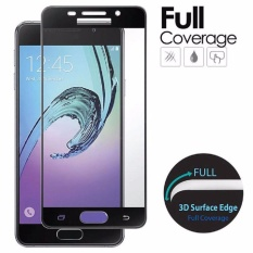 Tempered Glass For Samsung Galaxy A5 2017 A520 9H Full Screen Black Screen Anti Gores Kaca / Screen Guard / Screen Protection / Temper Glass / Pelindung Layar Kaca Samsung Galaxy A5 2017 A520 / Depan Only / Full Cover Depan - Black / Hitam