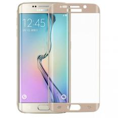 Tempered Glass untuk Samsung Galaxy S6 Edge Plus Permukaan Full Cover Depan Screen Protector Film untuk Samsung S6 Edge PLUS (emas) -2 Pcs