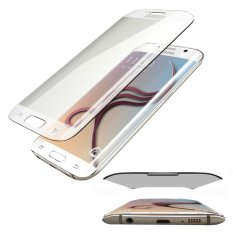 Tempered Glass Full Cover Curve Melengkung Untuk Samsung Galaxy S6 EDGE Anti Gores Kaca Melengkung/Screen Protection - Transparant