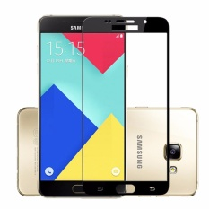 Tempered Glass Full Screen Black For Samsung Galaxy A7 2017 A720 9H Screen Anti Gores Kaca / Screen Guard / Screen Protection / Temper Glass / Pelindung Layar Kaca Samsung Galaxy A7 2017 A720  / Depan Only - Black / Hitam