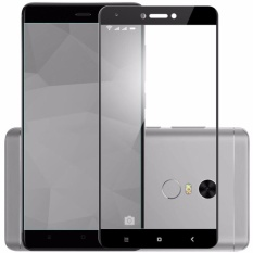 Tempered Glass Full Screen Black For Xiaomi Redmi Note 4X 9H Screen Anti Gores Kaca / Screen Guard / Screen Protection / Temper Glass / Pelindung Layar Kaca Xiaomi Redmi Note 4X  / Depan Only - Black / Hitam