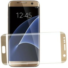 Jual Tempered Glass Full Screen Cover Protector Film For Samsung Galaxy S7 Edge Gold Branded Murah