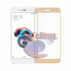 Tempered Glass Full Screen Gold Xiaomi MI A1 9H Screen Anti Gores Kaca / Screen Guard / Screen Protection / Temper Glass Xiaomi MI A1 / Pelindung Layar Kaca Full Xiaomi A1 / Depan Only / Temper Full Layar - Gold / Emas
