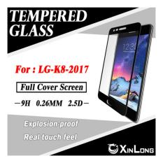 Tempered Glass LG K8 2017 Full Cover Screen - Hitam