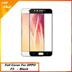 Tempered Glass OPPO F3 Screen Guard Full Cover Edge - Hitam