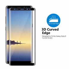 Cara Beli Tempered Glass Protector 3D Full Cover For Samsung Galaxy Note 8 6 3 Anti Gores Kaca Full Cover Hitam