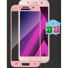 Tempered Glass Protector Samsung A3 2017 A320 Kaca Anti Gores List Pink Tempered Glass Protector Diskon 40