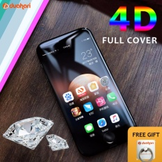 Tempered Glass PUTIH FULL COVER 4D untuk iPhone 6 6S