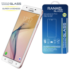 Tempered Glass Ranmel for Samsung Galaxy J7 Prime 5.5inc - Rounded Edge 2.5D - Clear