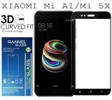 Toko Tempered Glass Ranmel For Xiaomi Mi A1 Xiaomi Mi 5X Full Anti Gores Hitam Lengkap