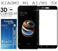 Jual Tempered Glass Ranmel For Xiaomi Mi A1 Xiaomi Mi 5X Full Anti Gores Hitam Import