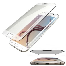 Tempered Glass Samsung Galaxy S6 Edge Full Anti Gores Kaca Melengkung - Clear
