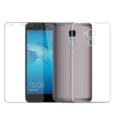 Film Anti Gores + Ultra Thin Soft Phone Case untuk Huawei Honor 5C Bening-Internasional