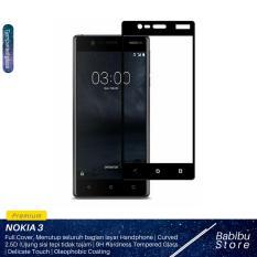 Tempered Glass Screen Protector / Anti Gores Kaca Nokia 3 - Hitam