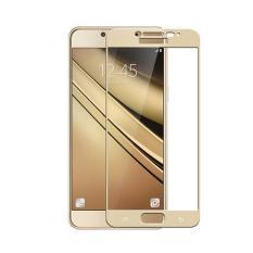 Tempered Glass Screen Protector / Anti Gores Kaca Samsung Galaxy C9 pro - Emas