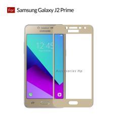 Tempered Glass Screen Protector / Anti Gores Kaca Samsung Galaxy J2 prime - Emas