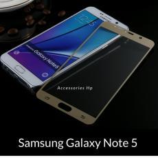Tempered Glass Screen Protector / Anti Gores Kaca Samsung Galaxy Note 5 - Emas