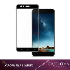 Tempered Glass Screen Protector / Anti Gores Kaca Xiaomi Mi A1 / Mi 5X - Hitam