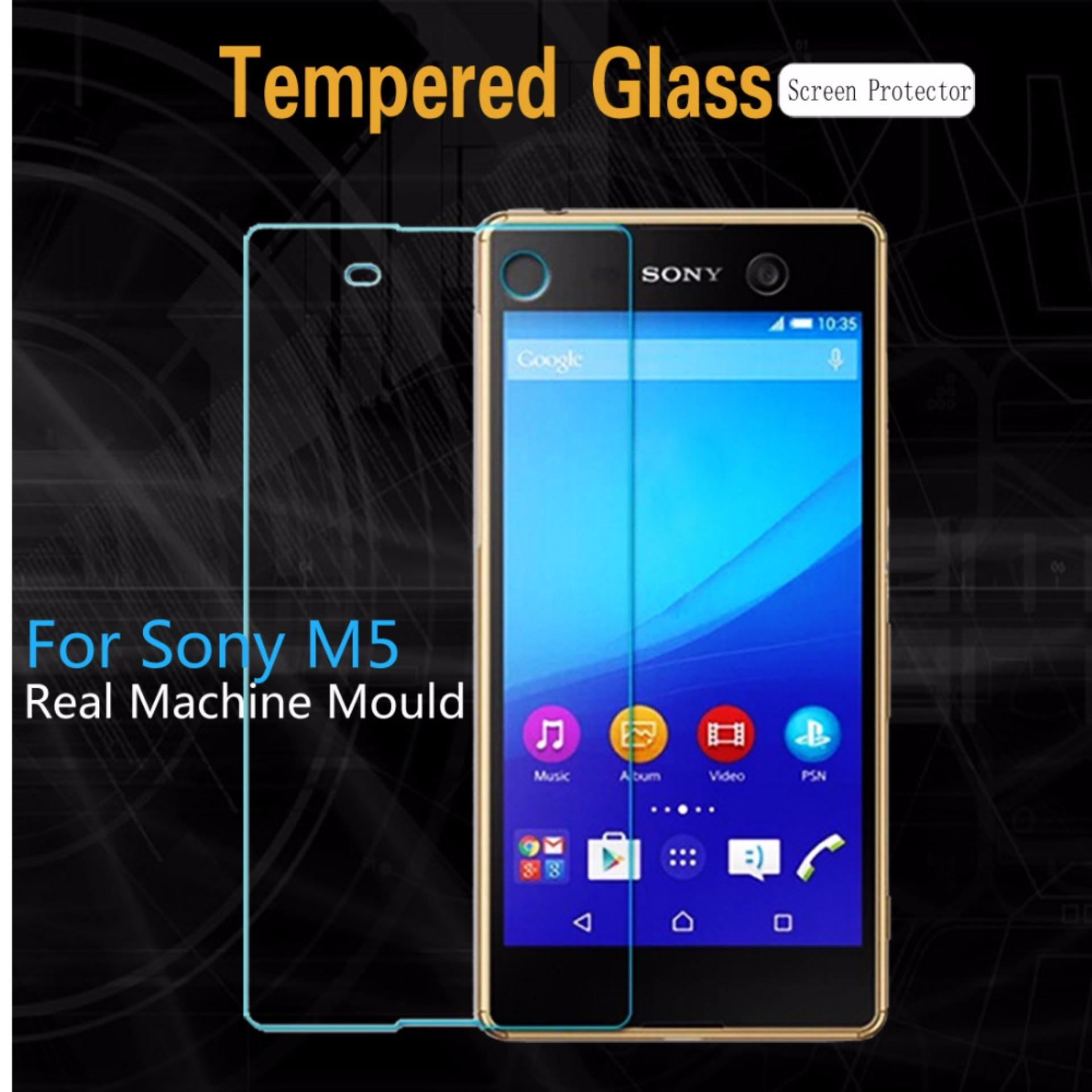 Promo Tempered Glass Sony Xperia M5 Anti Gores Screen Guard Protector Clear