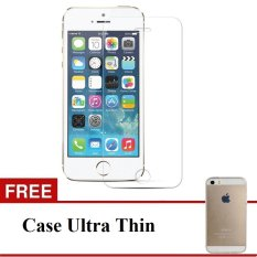 Tempered Glass untuk Iphone 5 / 5C / 5S Clear  - Free Ultrathin case