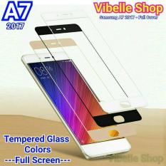 Tempered Glass Warna SAMSUNG A7 2017 A720 FULL SCREEN COVER A7 A72017