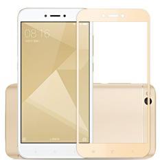 Harga Tempered Glass Xiaomi Redmi 4X Full Screen Round Edge Gold Branded