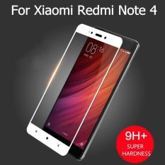 Tempered Glass Xiaomi Redmi Note 4 Full Screen Round Edge - Putih