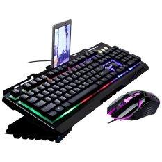 Sepuluh-Bintang G700 Keyboard Mekani dengan Lampu Warna dan Mouse 2017-Intl