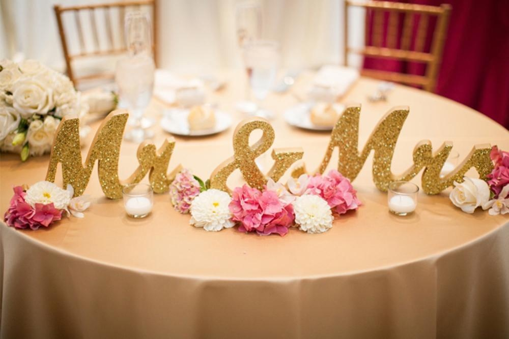 Tengxun Kayu Mr Mrs Letters Daftar untuk Meja Pernikahan, Alat Peraga Foto, Meja Pesta, Top Makan Malam, Rustic Dekorasi Pernikahan-Intl