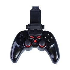 Tengxun TI-465 Multifungsi Remote Nirkabel Bluetooth Gamepad Ponsel Game Controller Joystick Gaming Handle untuk Android/IOS/TV Kotak Gamepad/Tablet/PC dengan Kabel USB --- Hitam-Intl