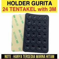 Tentakel Gurita Tempelan Gurita Belakang Handphone Holder Hp - Hitam