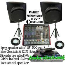 TERBARU...Paket Sound System 15inch CLEVE AUDIO dan MIXER 12channel