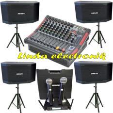 TERBARU...Paket Sound system ASHLEY 10inch 4bh Dan Power mixer ashley lm 800p