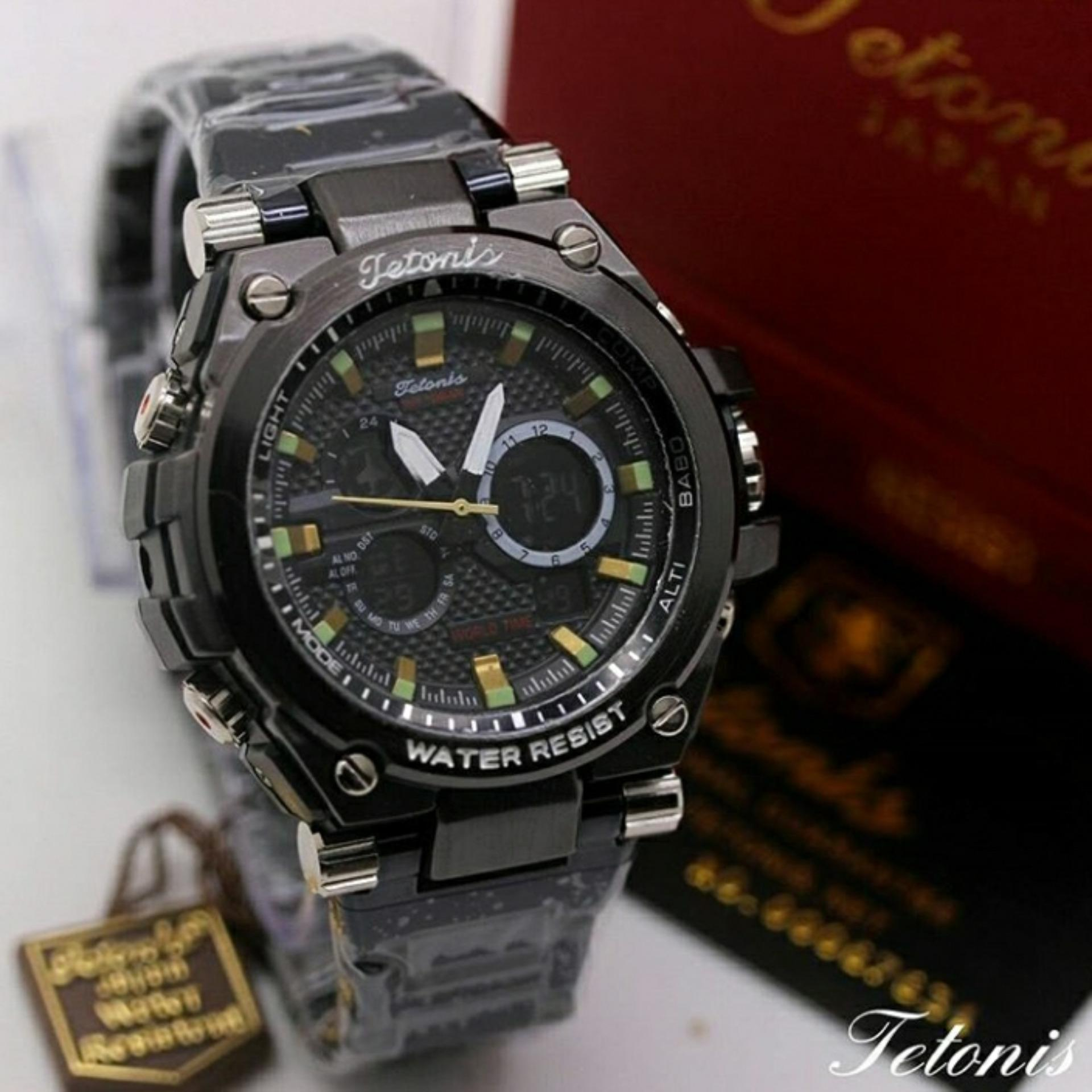Diskon Tetonis Dual Time Jam Tangan Fashion Pria Stainlees Strap Ts4508 Tetonis Di Dki Jakarta