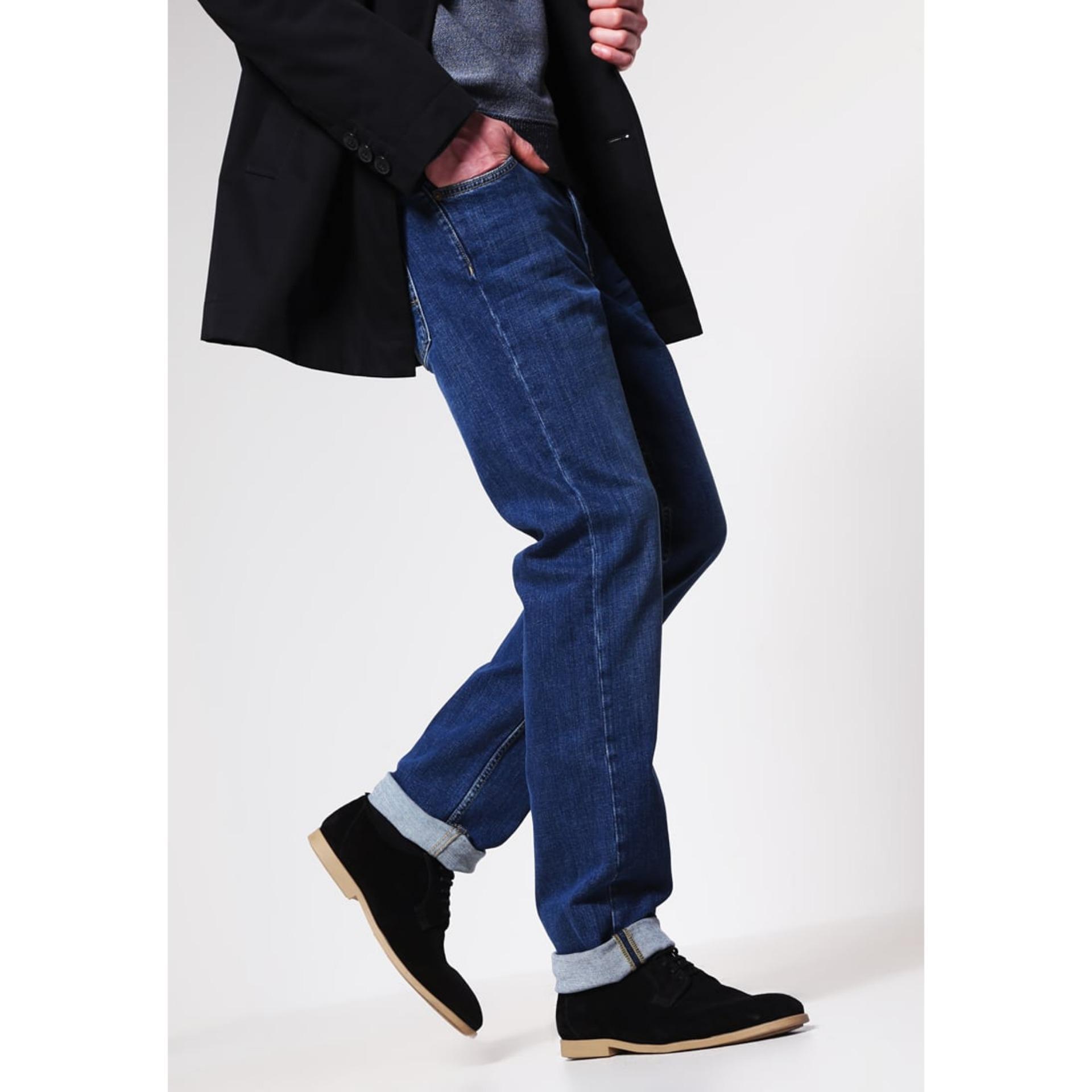 Harga Texan Celana Jeans Panjang Pria Warna Biru Jeans Model Reguler Standard Big Size 33 34 35 36 37 38 Yang Murah Dan Bagus