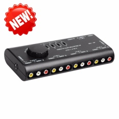 Beli Av Switcher Empat Memasuki Av Audio Video Switcher Distributor Splitter 4 Ke 1 Out Intl Oem Online