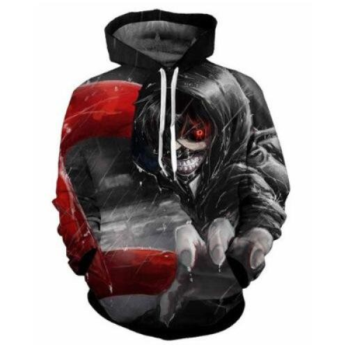 Beli The Explosion Of 3D Printing Tokyo Ghoul Hoodie Sweater For Men And Women Intl Oem Murah