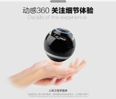 Bola Puaskan dengan Lamp Fashion Nirkabel Bluetooth mini Kecil Portable Speakers Multi Fungsional Mobile Phone Musik Speaker Portabel Komputer Musik Player-hitam-Internasional