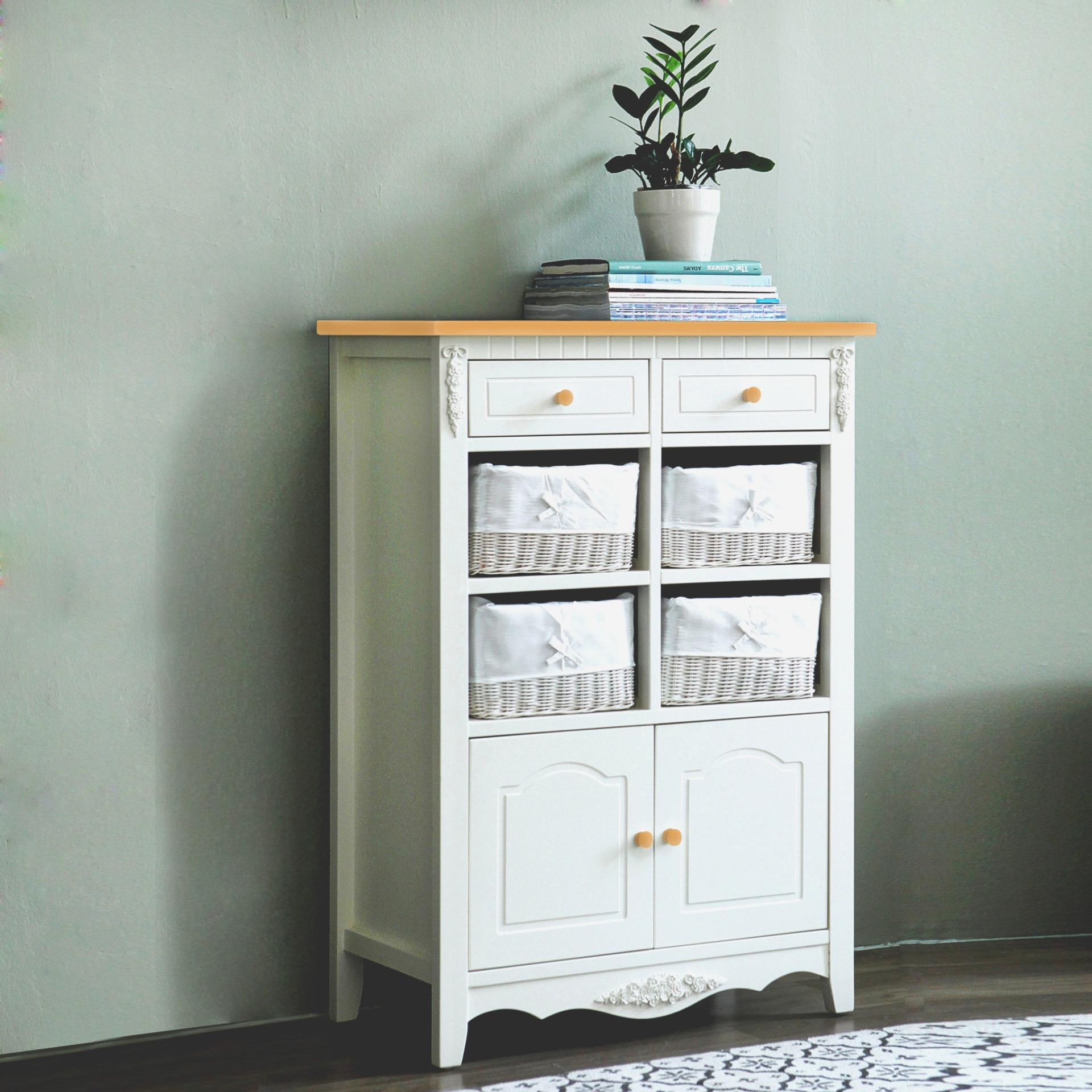 Diskon The Olive House Lemari Kabinet Jasmine 8 Drawers Top Oak Akhir Tahun