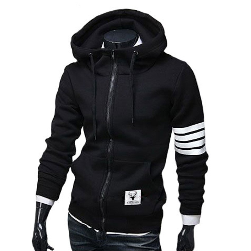 Beli The Spring And Autumn Trade New Men S Casual Hooded Cardigan Sweater Amazon Aliexpress Fashion Men Sweater Coat Intl Murah Tiongkok