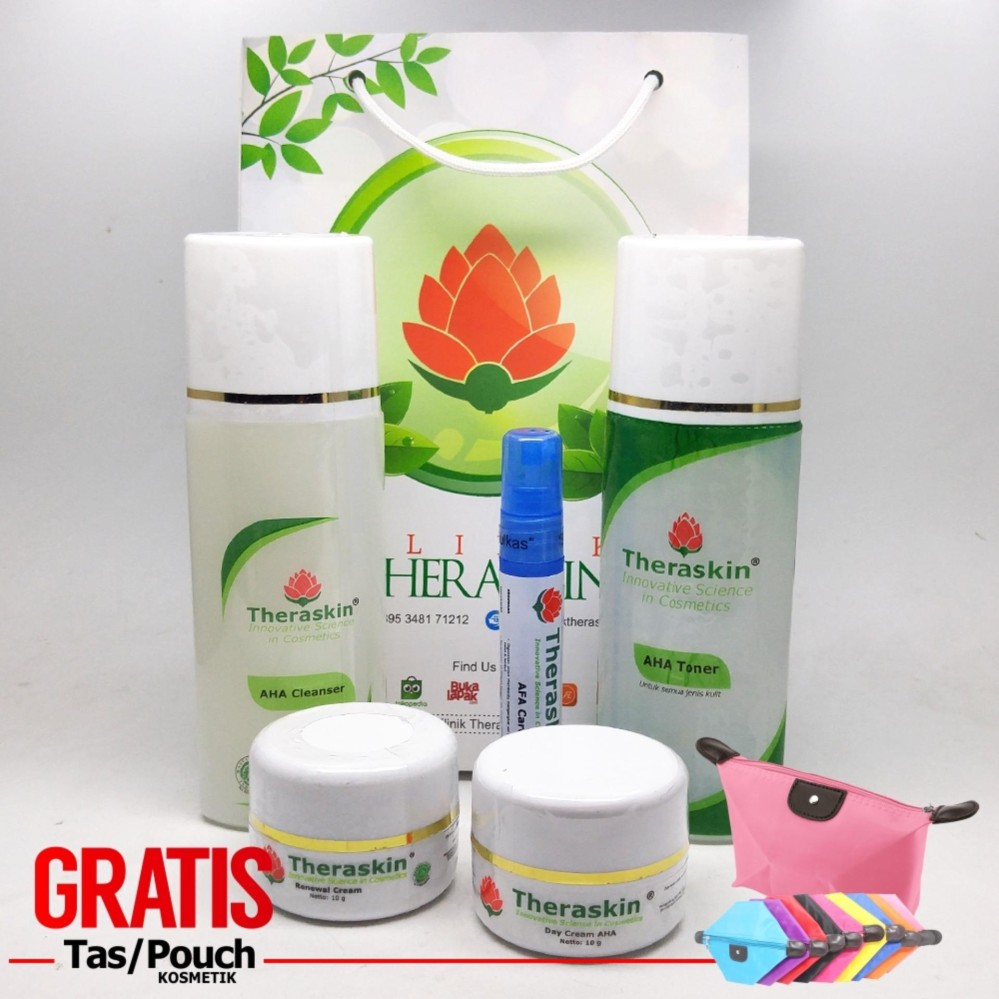 Spesifikasi Theraskin Flek Theraskin Aha Paket Theraskin Flek Ringan Lanjutan With Renewal Cream Afa Care Serum Gratis Pouch Yg Baik