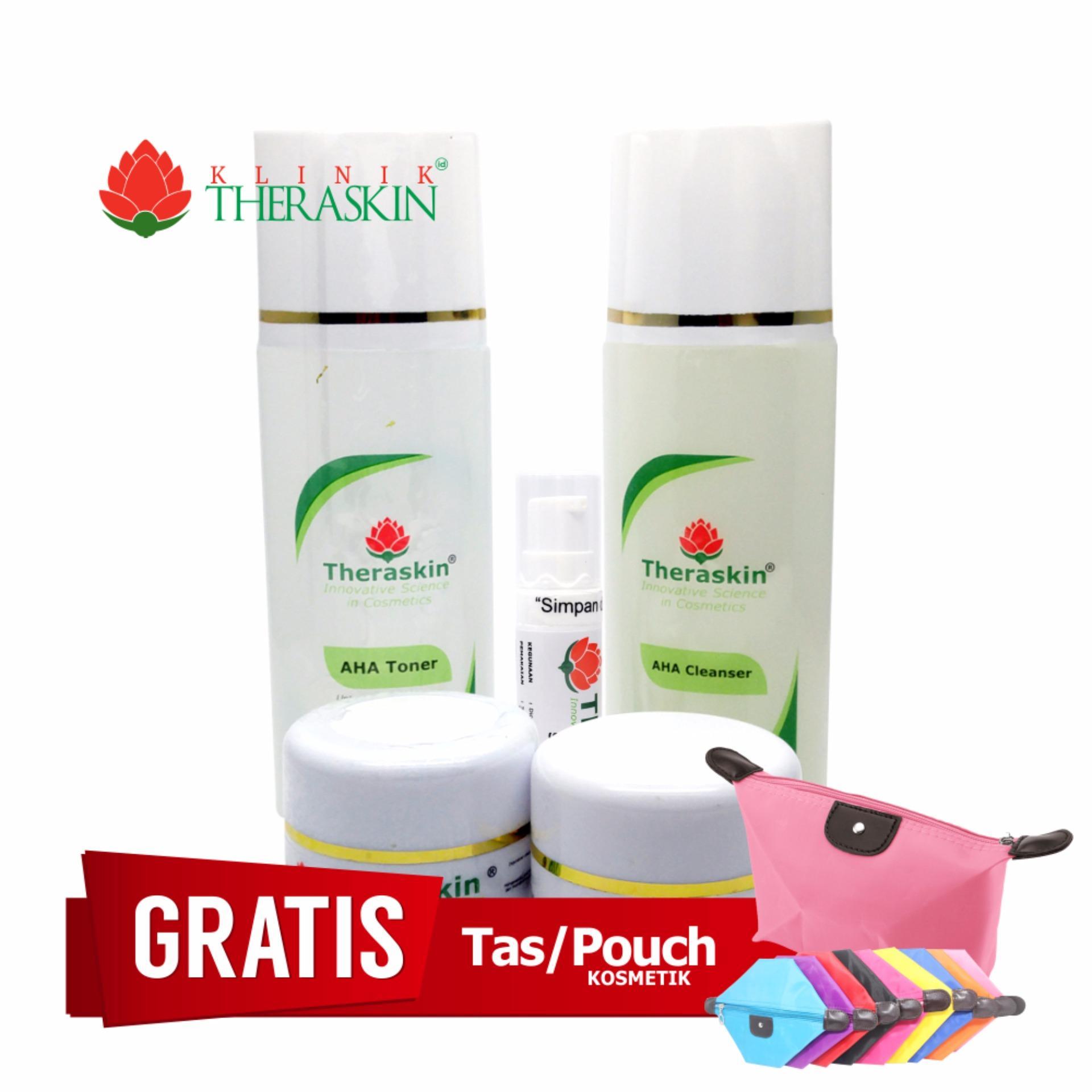 Promo Theraskin Glowing Paket Lengkap Untuk Flek Tebal Flek Sedang Parah Kt 003 Gratis Pouch Murah