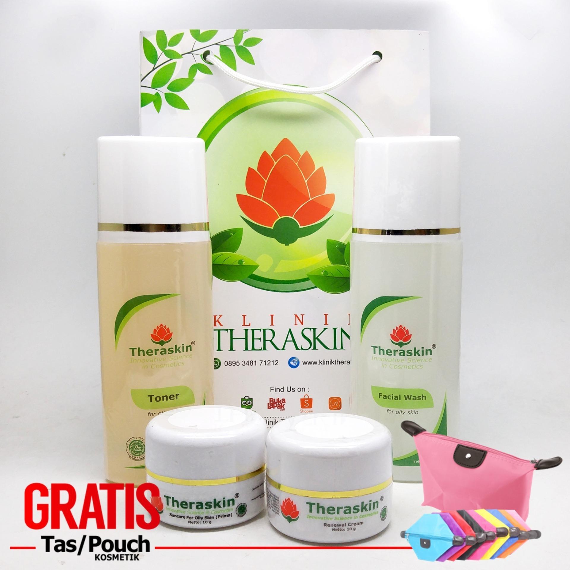 Toko Theraskin Oily Whitening Paket Pemutih Wajah Theraskin Untuk Kulit Berminyak Gratis Pouch Di Jawa Barat