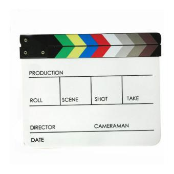 Third Party Acrylic Akrilik Film Director Production Magnet Clapper Board 4 Kolom Diskon North Sumatra