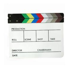 Harga Third Party Acrylic Akrilik Film Director Production Magnet Clapper Board 4 Kolom Asli