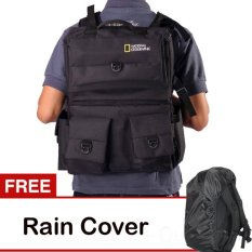Jual Third Party Tas Kamera Backpack Natgeo Bahan D300 Hitam Gratis Rain Cover Third Party Asli