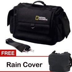 Third Party Tas Kamera National Geographic - Hitam + Free Rain Cover